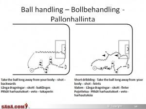 Salibandy harjoitteet 6-10 vuotiaille pallonhallinta harjoite